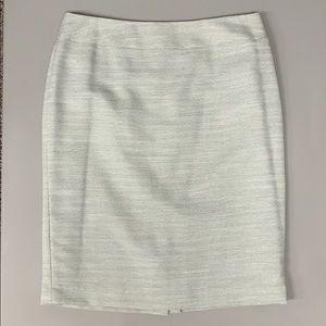 Plus sized cream straight skirt